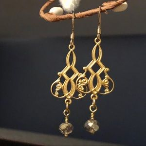 Beautiful ornate gold filled Earrings